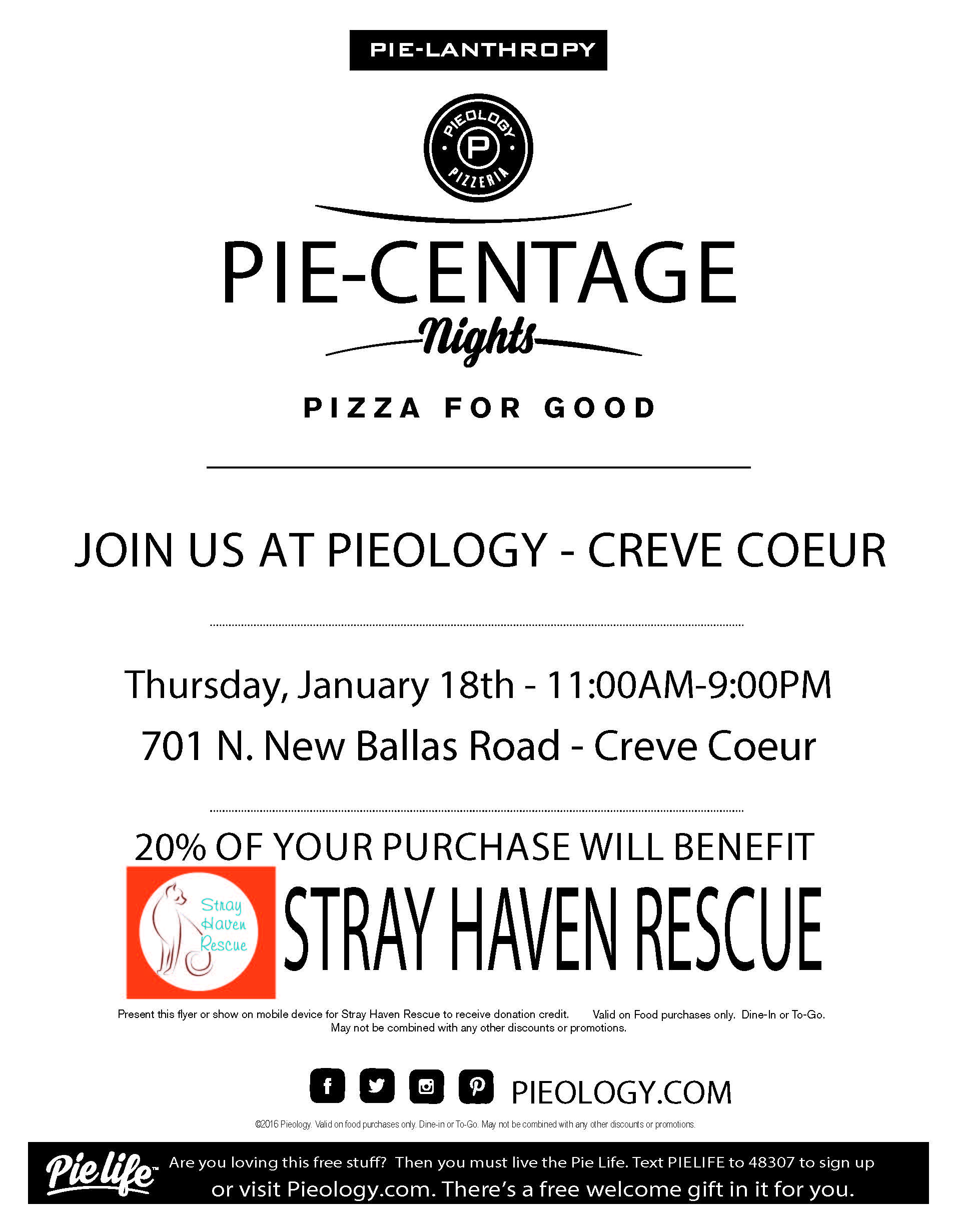Pie Night - Stray Rescue Haven 1-18-17